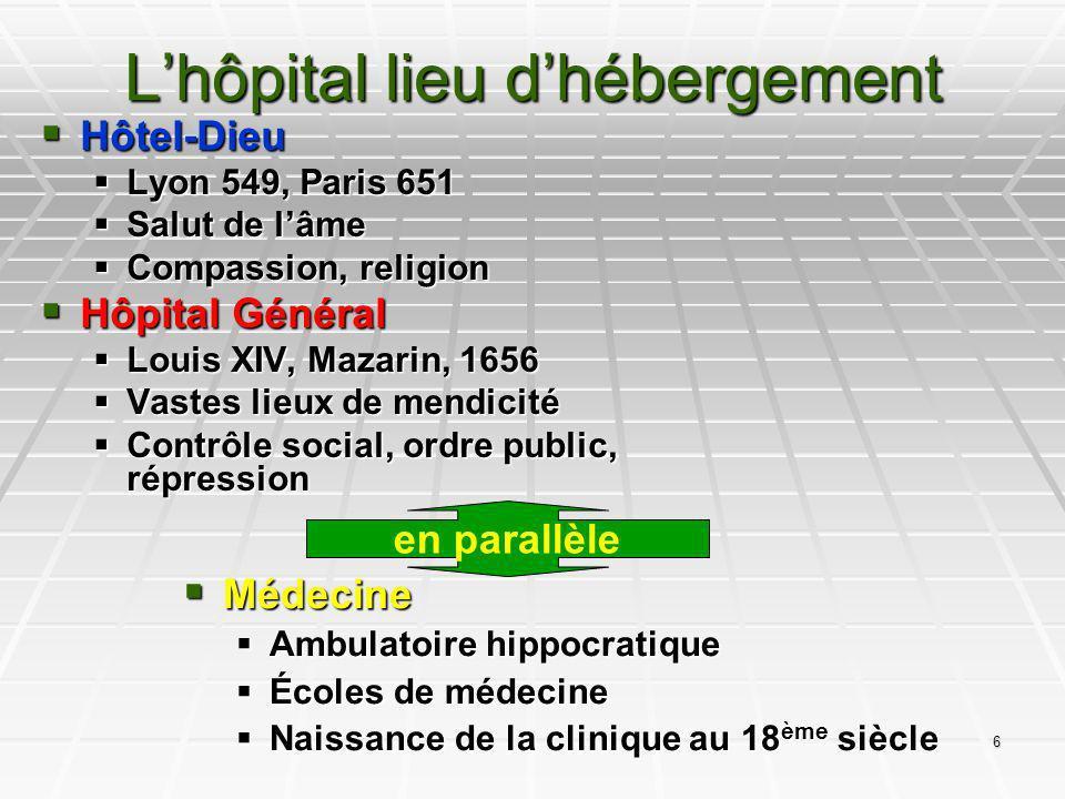 6 Lhôpital lieu dhébergement Hôtel-Dieu Hôtel-Dieu Lyon 549, Paris 651 Lyon 549, Paris 651 Salut de lâme Salut de lâme Compassion, religion Compassion