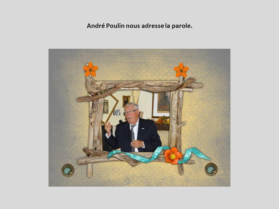 André Poulin nous adresse la parole.