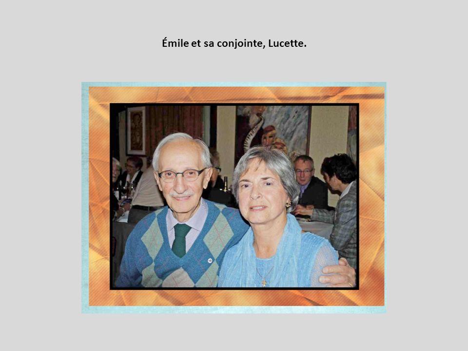 Émile et sa conjointe, Lucette.