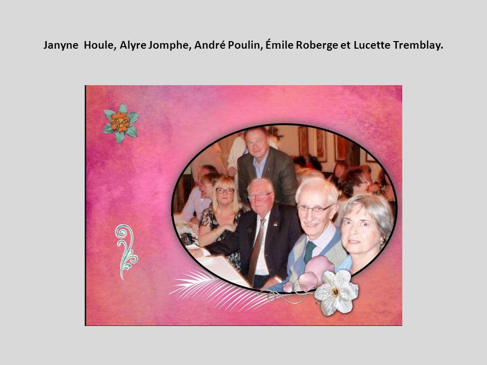 Janyne Houle, Alyre Jomphe, André Poulin, Émile Roberge et Lucette Tremblay.