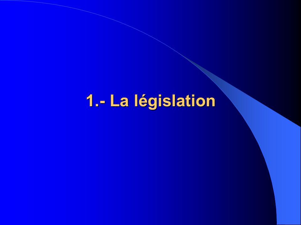 1.- La législation