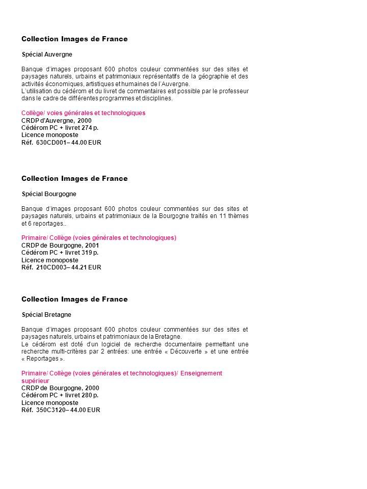 Collection Images de France Spécial Guadeloupe-Martinique-Guyane Photo-CD présentant le patrimoine géographique, culturel et architectural des Antilles et de la Guyane.