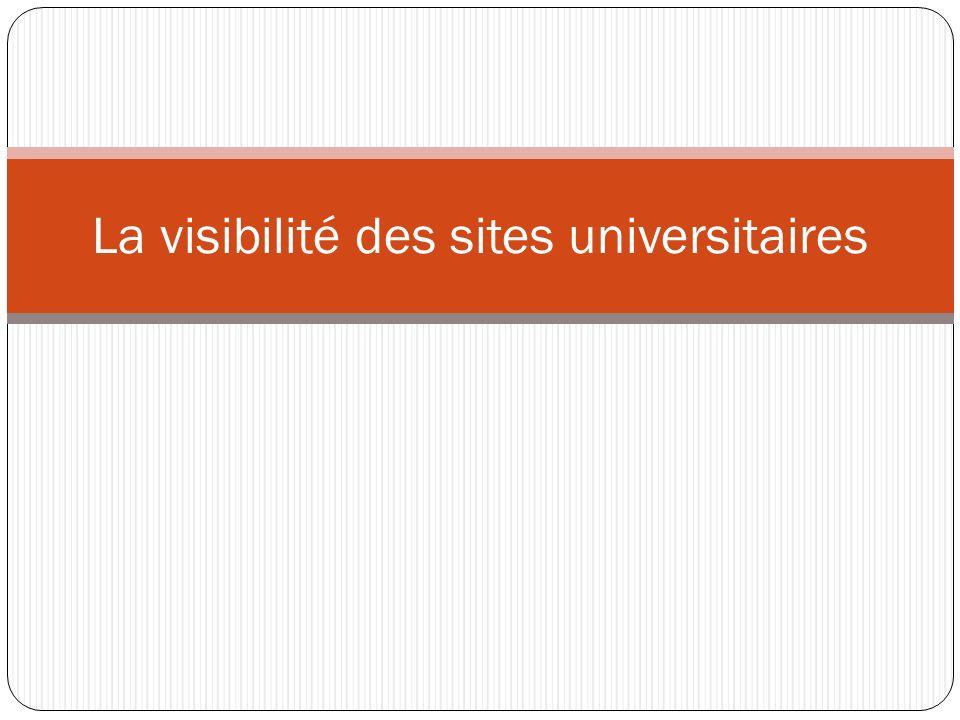 La visibilité des sites universitaires