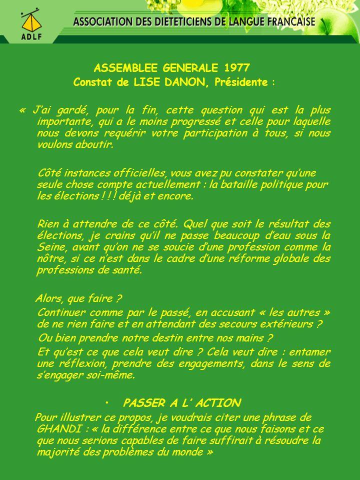 Présidente : Françoise Casamitjana novembre 1978 – septembre 1984 1979 : Malgré toutes les démarches…..