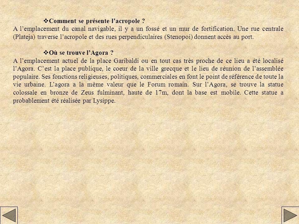 MONUMENTS ET LIEUX PUBLICS DE LANTIQUE TARENTE.