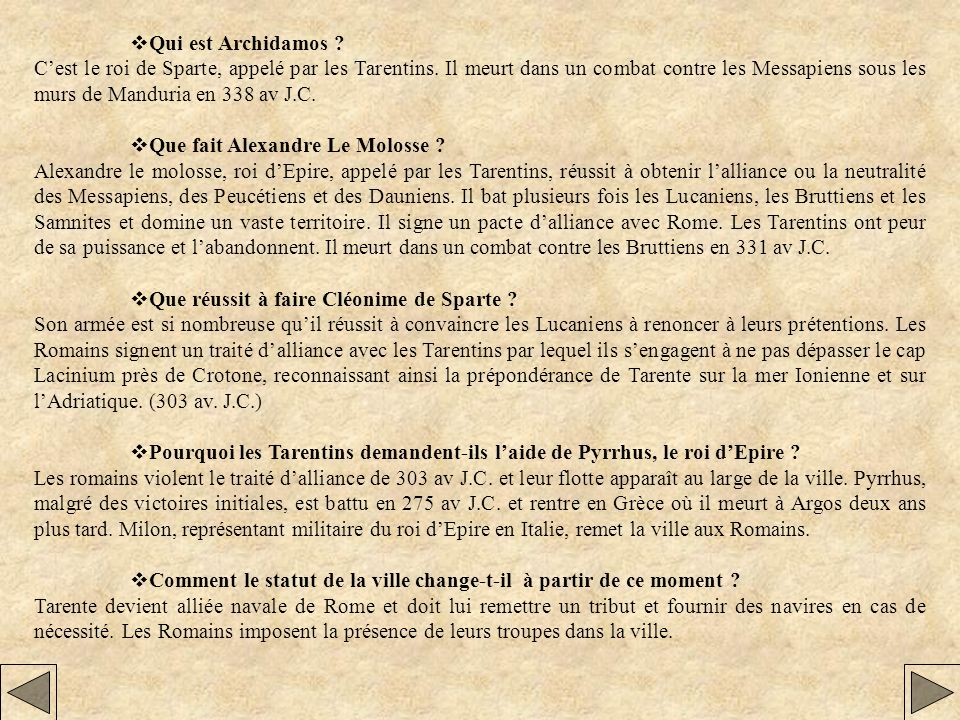 Qui est Icco de Tarente .
