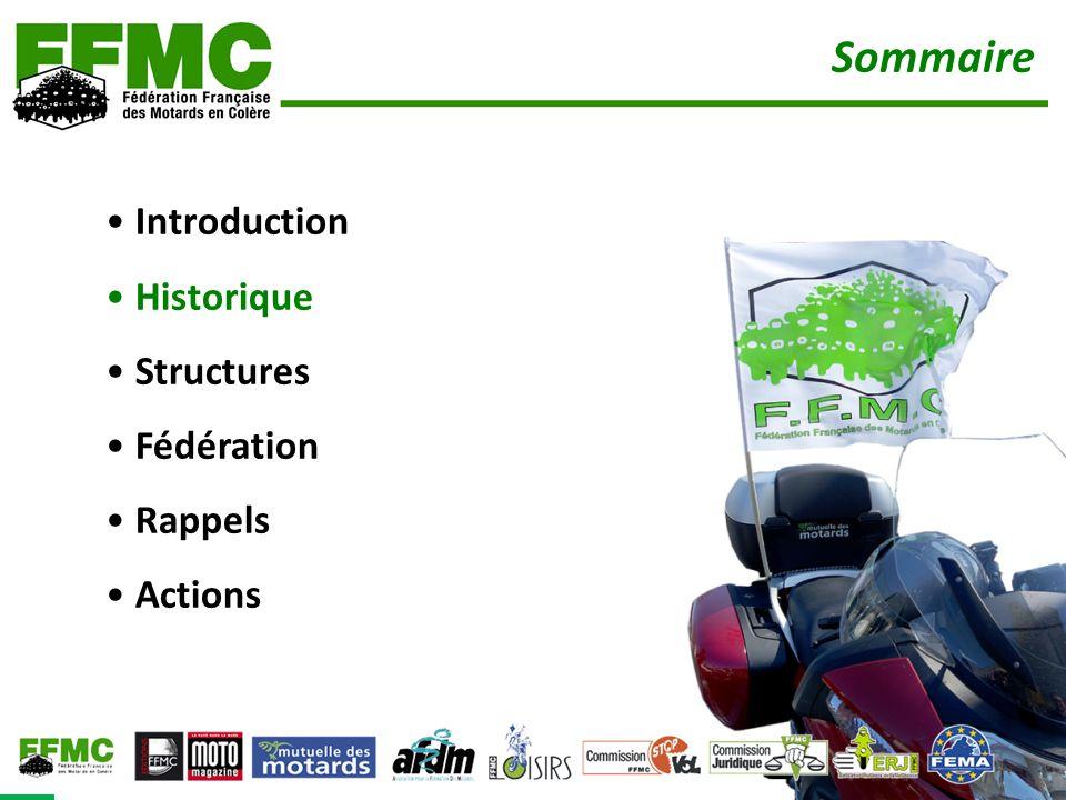 Sommaire Introduction Historique Structures Fédération Rappels Actions