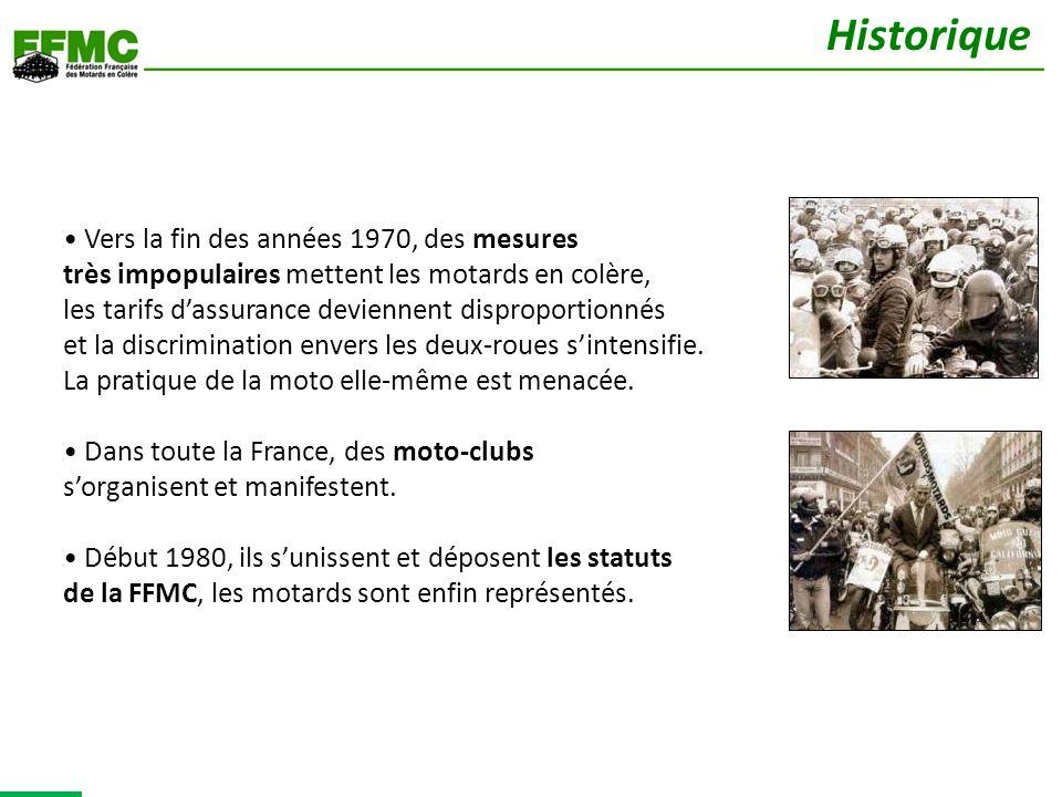 Au fil des années, la FFMC sest dotée de diverses structures pour répondre à tous les besoins des motards.