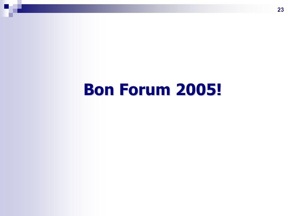 23 Bon Forum 2005! Bon Forum 2005!