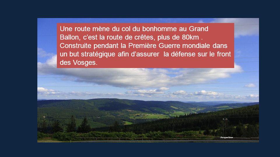 Les Hautes Vosges cristallines : Sur une longueur denviron 100kms, elles sétendent de la vallée de la Bruche au nord du Territoire de Belfort au sud e