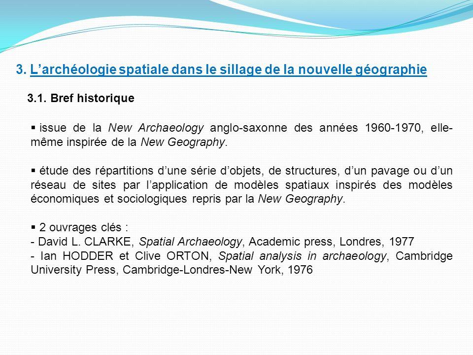 3.Larchéologie spatiale dans le sillage de la nouvelle géographie 3.1.