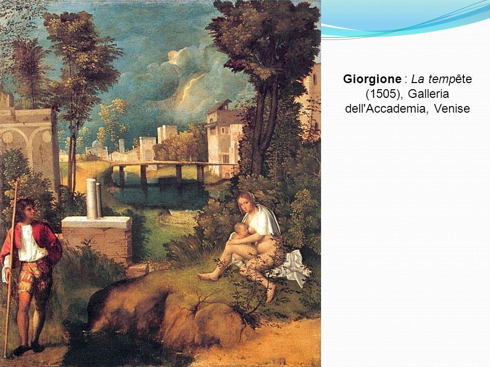 Giorgione : La tempête (1505), Galleria dell Accademia, Venise
