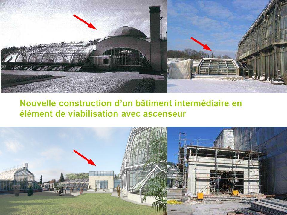 Nouvelle construction dun bâtiment intermédiaire en élément de viabilisation avec ascenseur