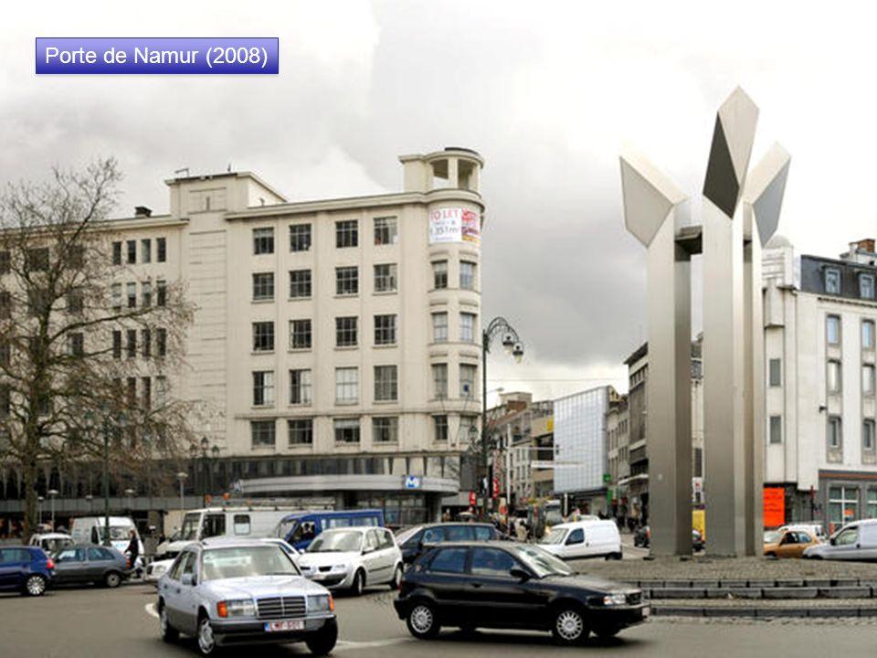 La fontaine De Brouckère, Porte de Namur (vers 1900) Erigée en 1966 en hommage à Charles De Brouckère, bourgmestre de Bruxelles (1848-1860). Les trava