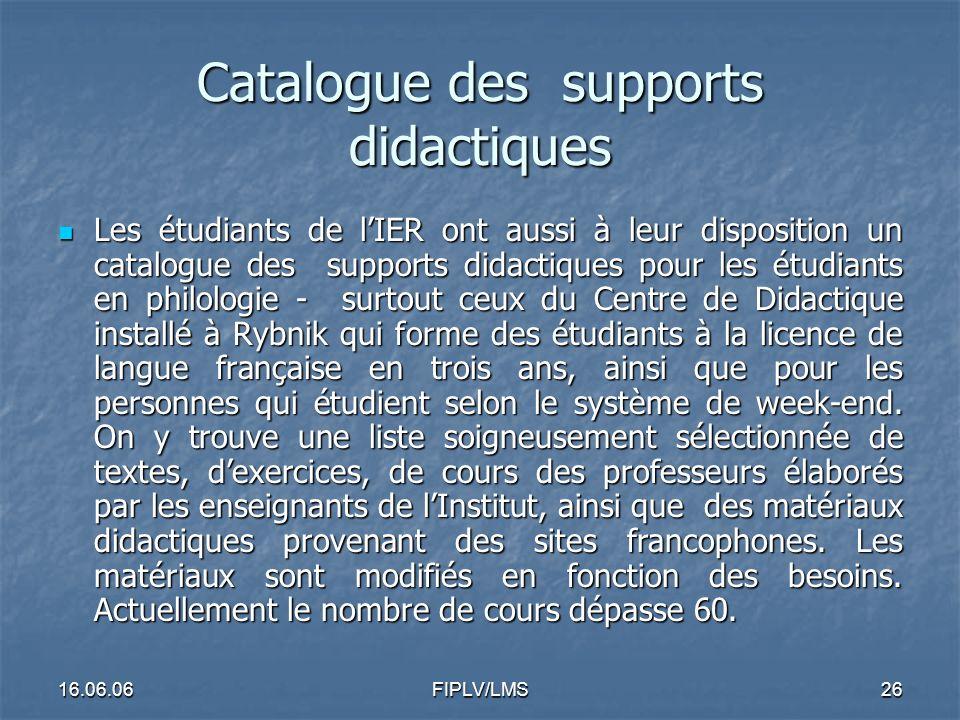 16.06.06FIPLV/LMS25 Exemple 1: Exploration de moteurs de recherche élaborés par les enseignants