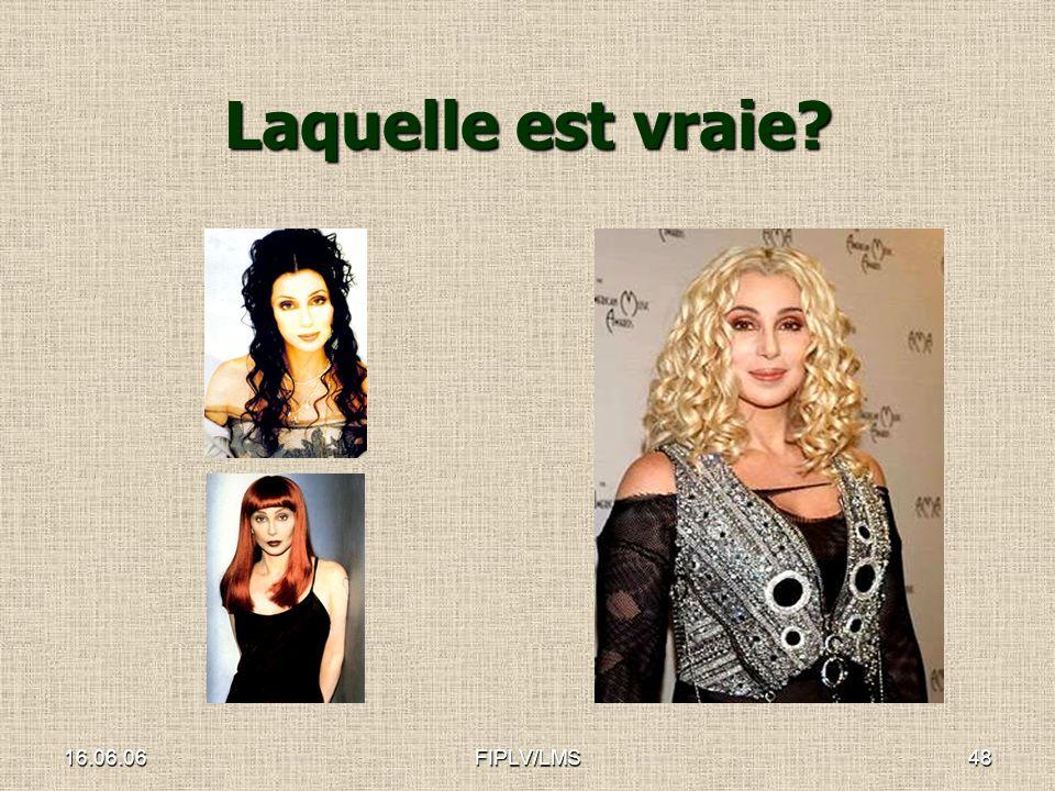 16.06.06FIPLV/LMS47 Et quen est-il avec les icônes de la culture pop Voyons le cas de Cher…