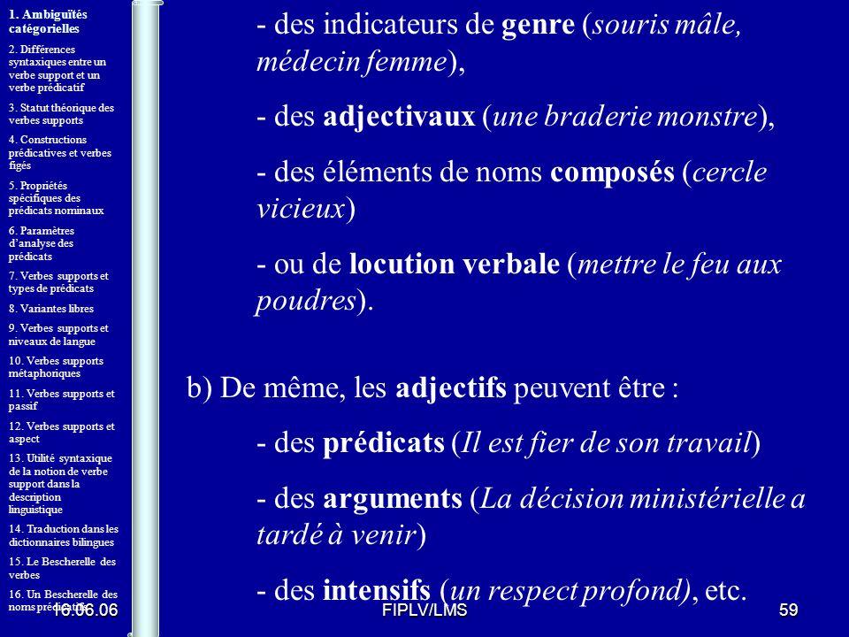 16.06.06FIPLV/LMS58 Un Bescherelle des prédicats nominaux