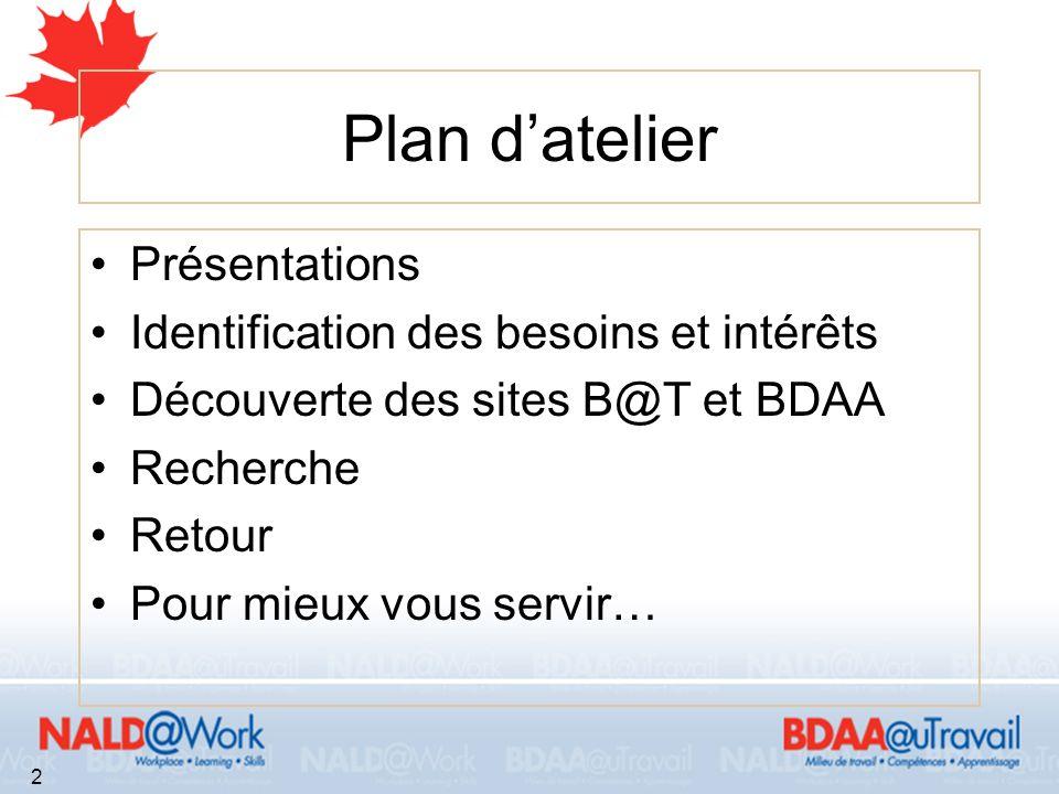 À propos de la BDAA La BDAA est un organisme à but non lucratif Créé en 1989 au Collège Fanshaw en Ontario Incorporé en 1992 1995: la BDAA fait le virage virtuel et déménage au Nouveau-Brunswick 3