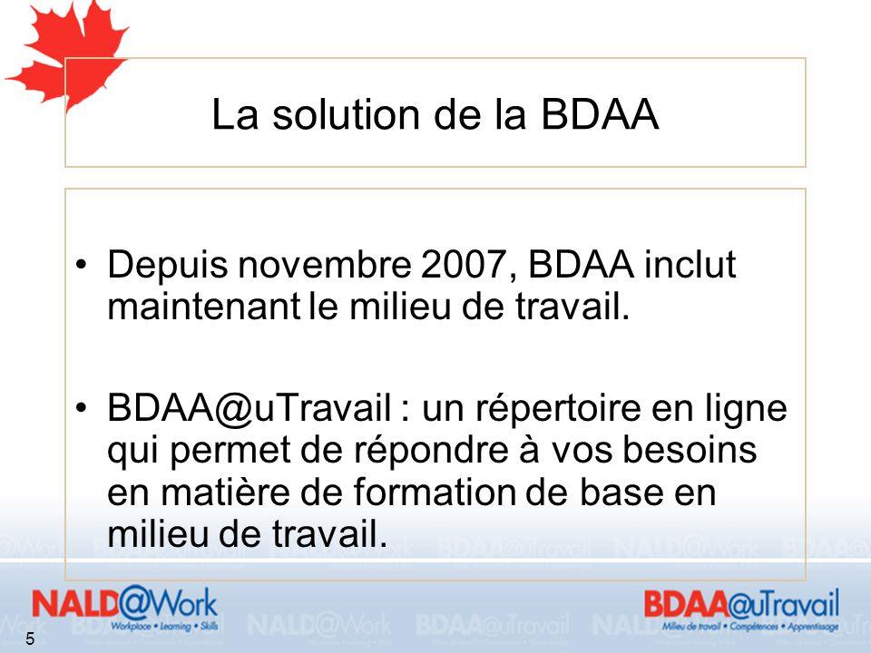 16 BDAA@Travail à votre service Cest votre centre de renseignements virtuel.