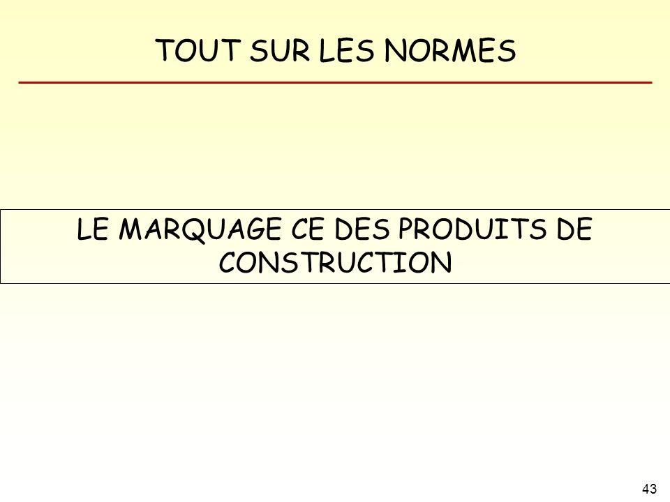 TOUT SUR LES NORMES 43 LE MARQUAGE CE DES PRODUITS DE CONSTRUCTION