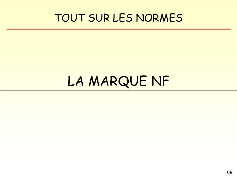 TOUT SUR LES NORMES 68 LA MARQUE NF
