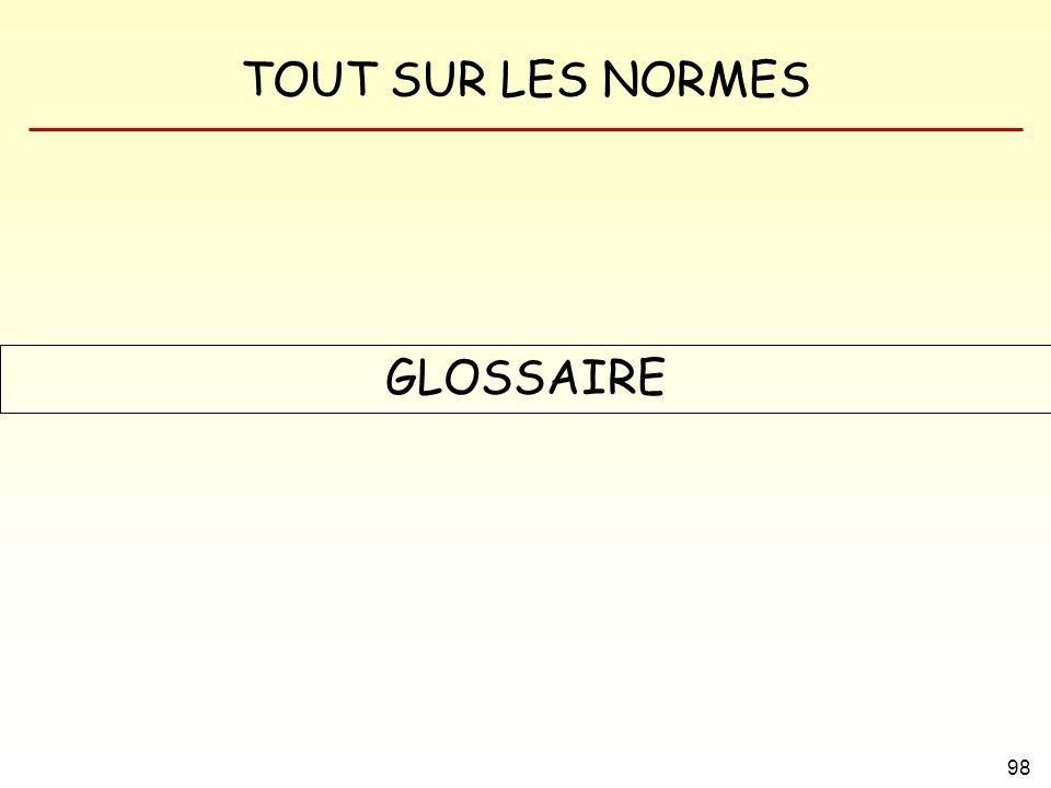 TOUT SUR LES NORMES 98 GLOSSAIRE