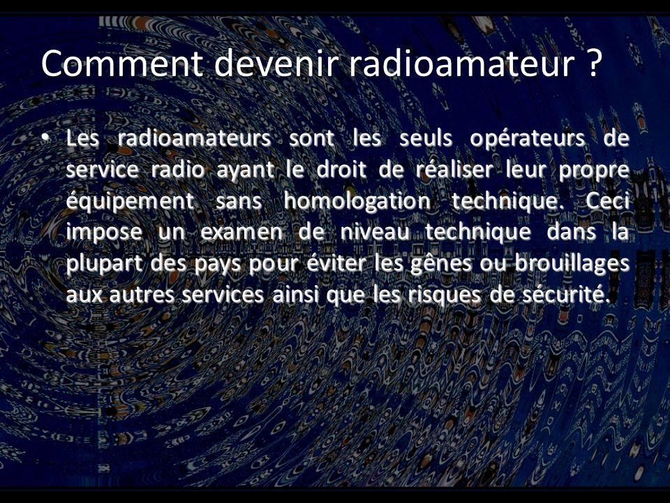 Comment devenir radioamateur .
