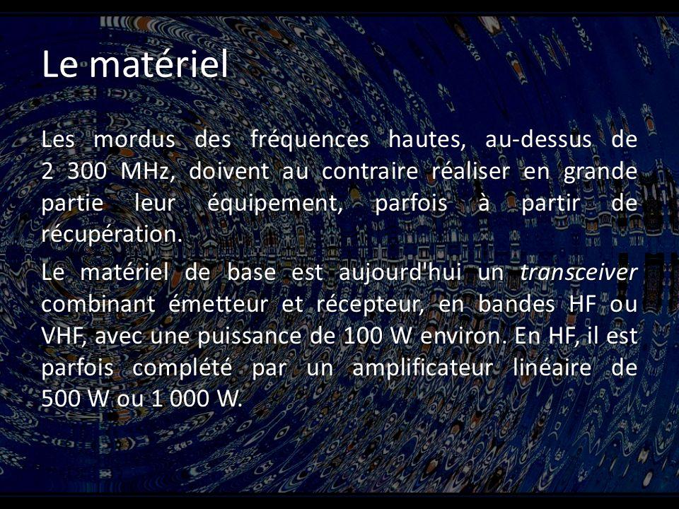 Le matériel Les mordus des fréquences hautes, au-dessus de 2 300 MHz, doivent au contraire réaliser en grande partie leur équipement, parfois à partir de récupération.