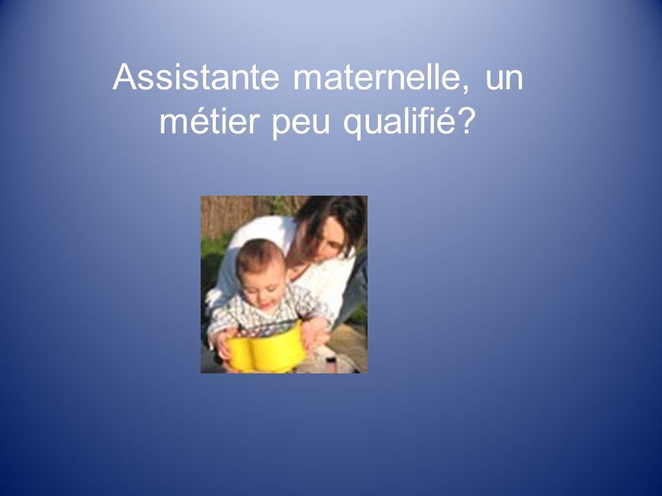 Assistante maternelle, un métier peu qualifié