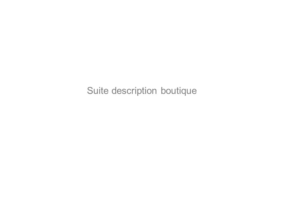 Suite description boutique