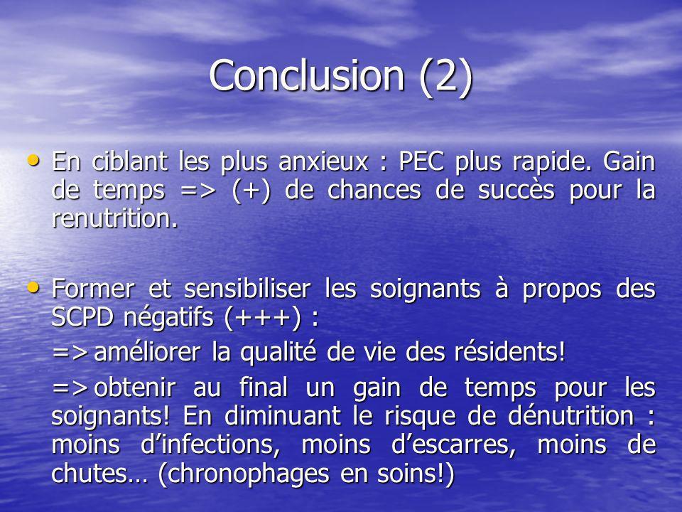 Conclusion (2) En ciblant les plus anxieux : PEC plus rapide.