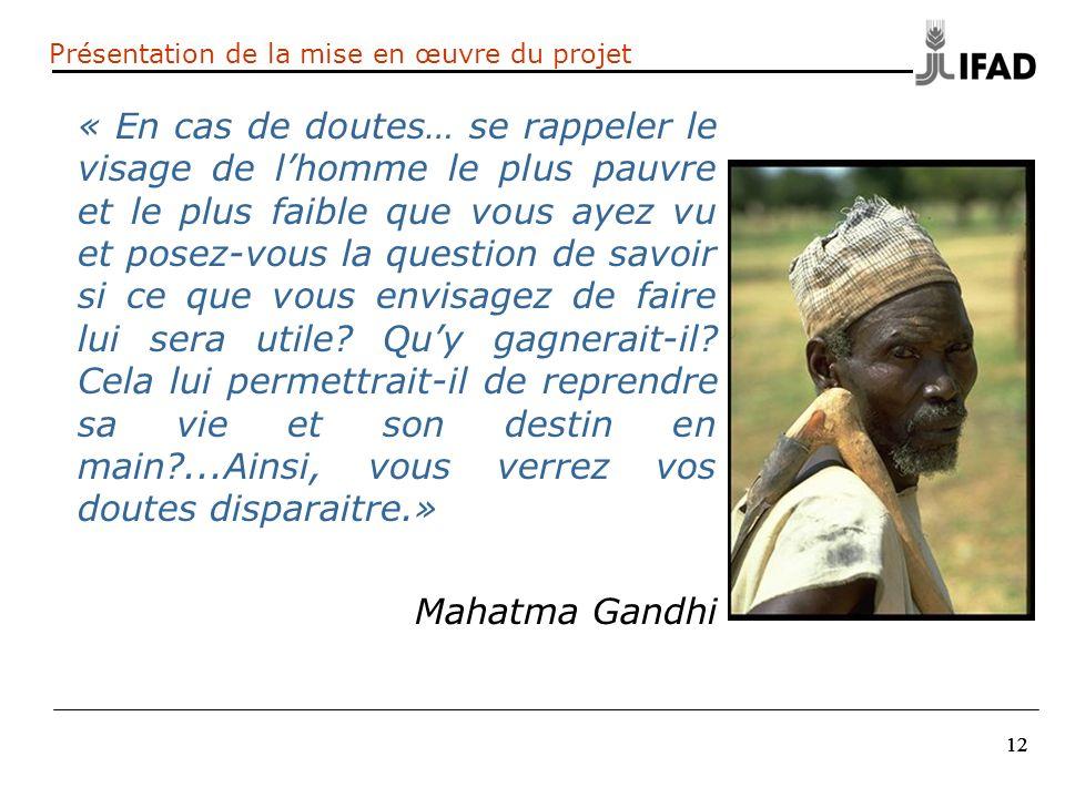 12 « En cas de doutes… se rappeler le visage de lhomme le plus pauvre et le plus faible que vous ayez vu et posez-vous la question de savoir si ce que