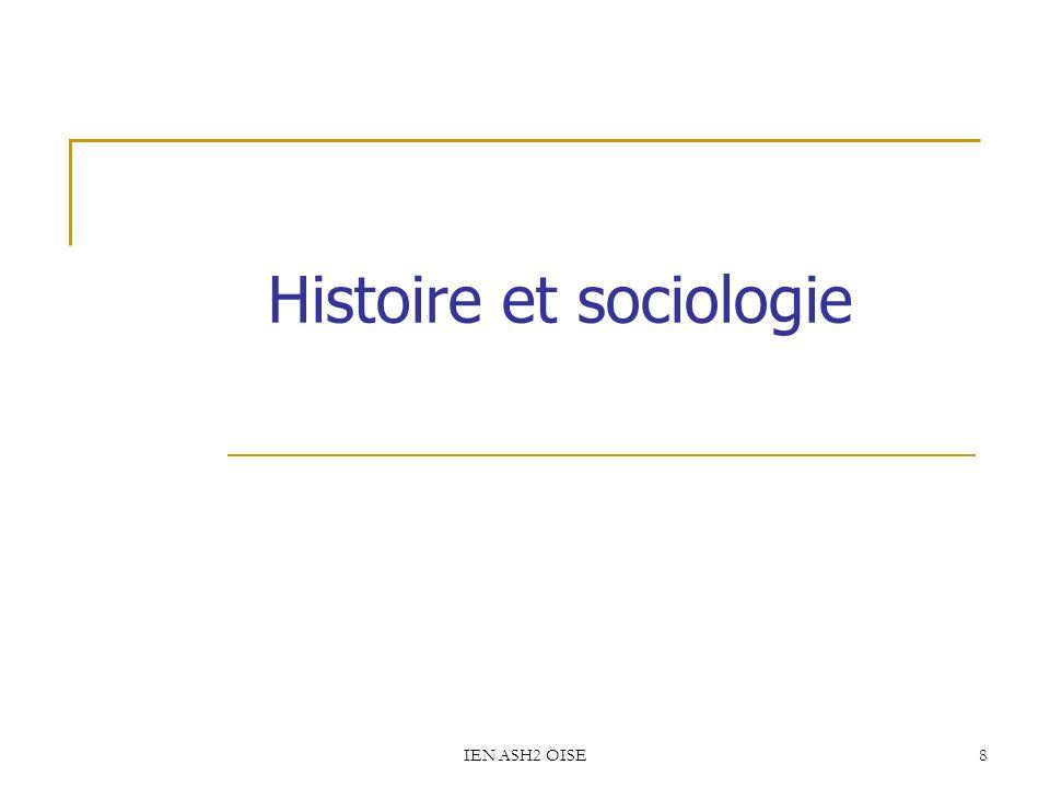IEN ASH2 OISE8 Histoire et sociologie