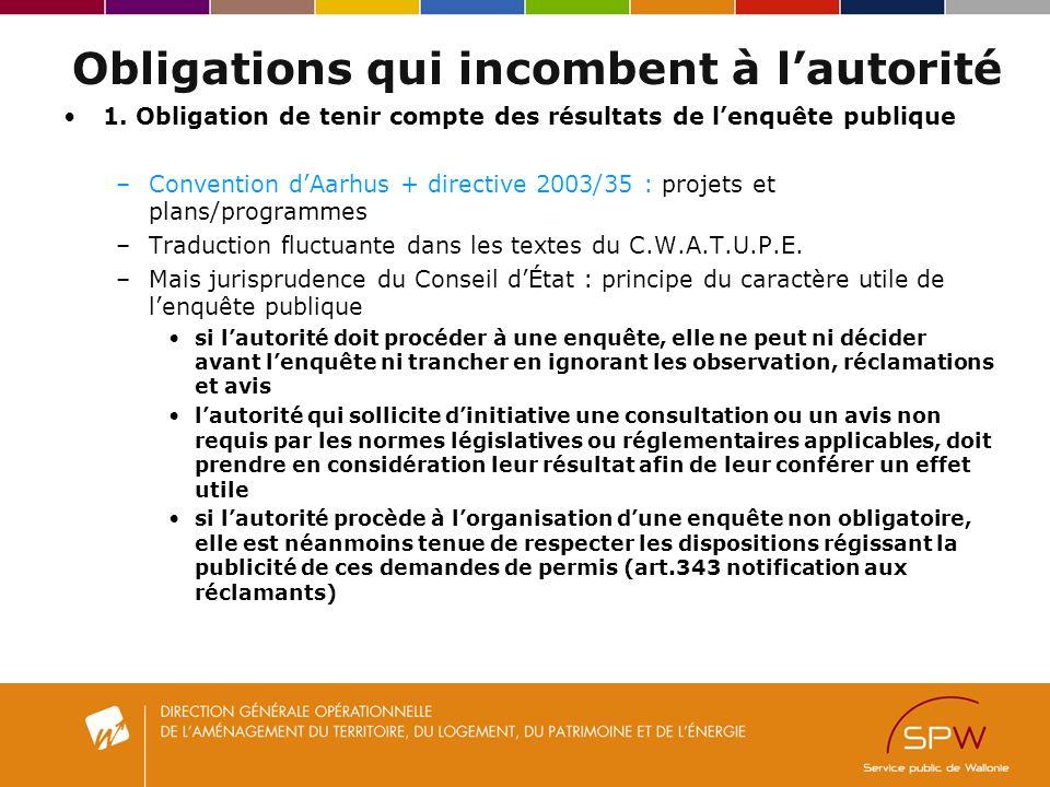 Obligations qui incombent à lautorité 1.