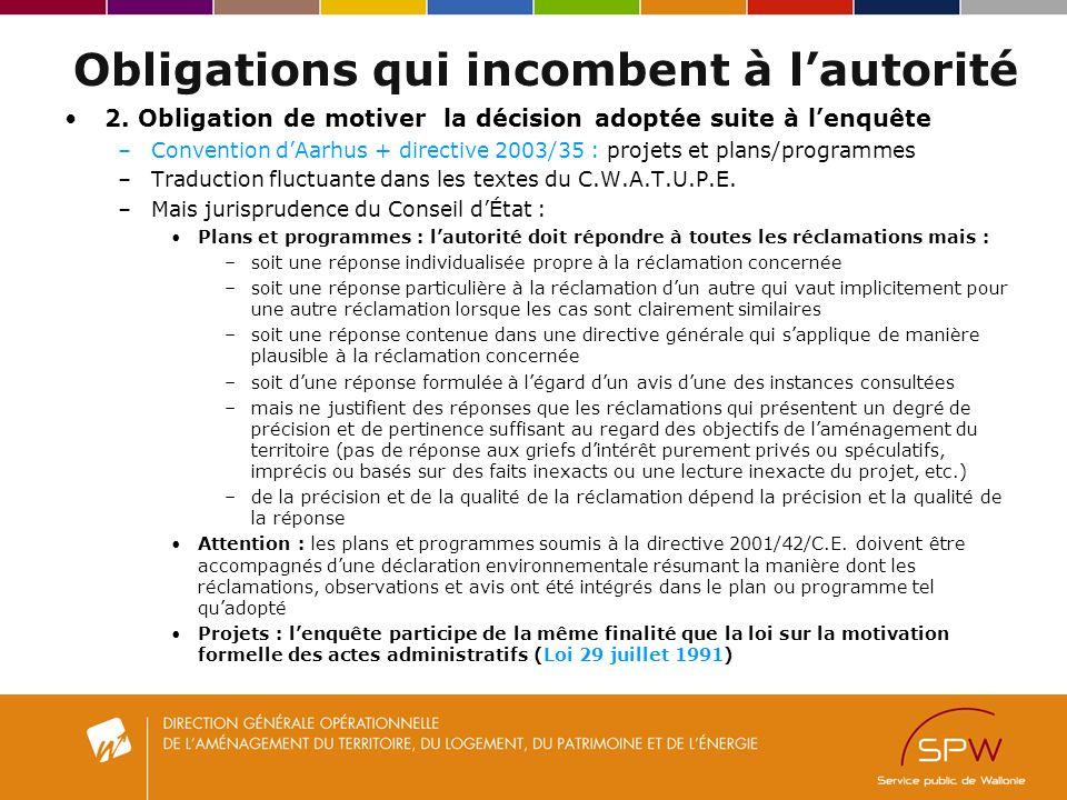Obligations qui incombent à lautorité 2.