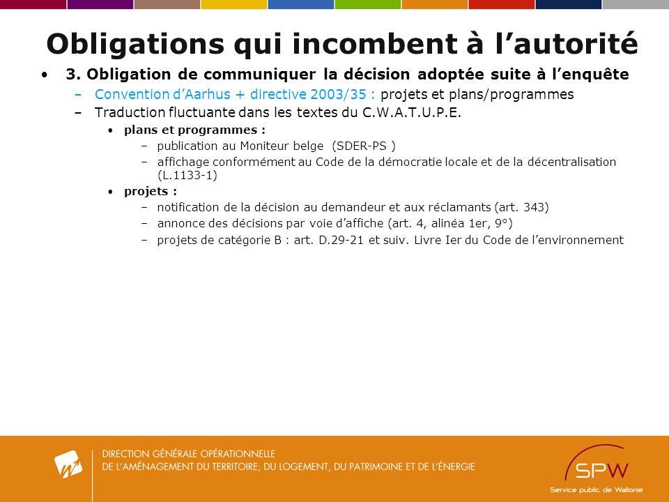 Obligations qui incombent à lautorité 3.