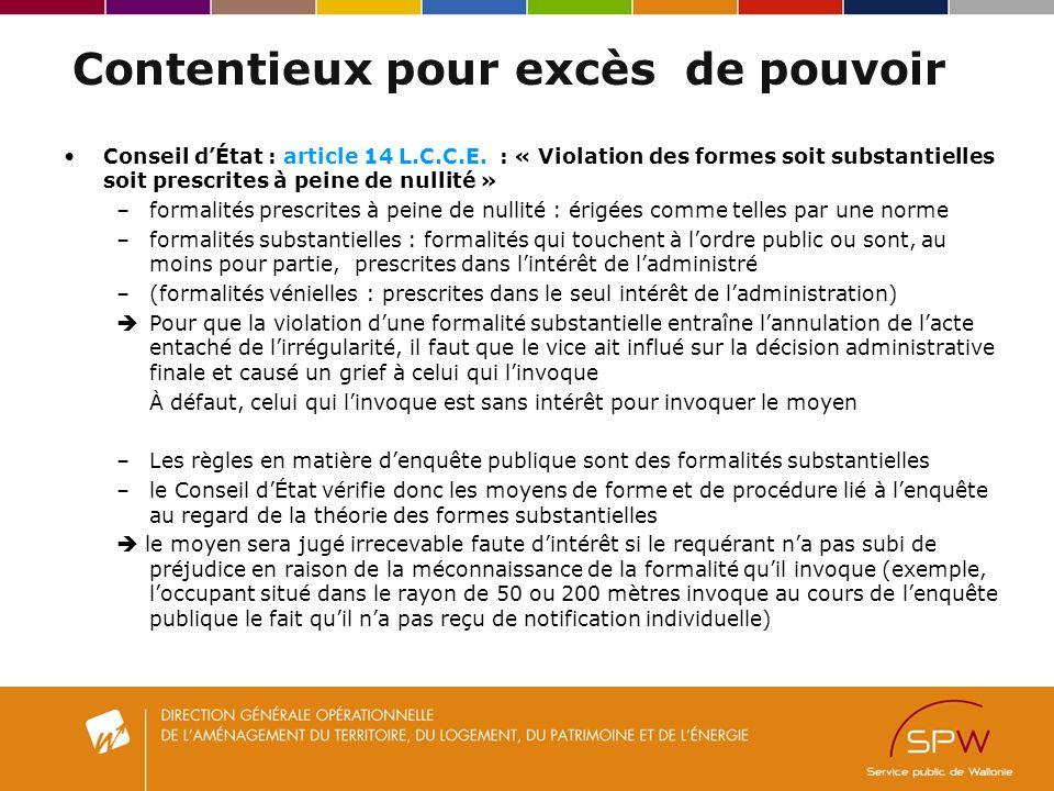 Contentieux pour excès de pouvoir Conseil dÉtat : article 14 L.C.C.E.