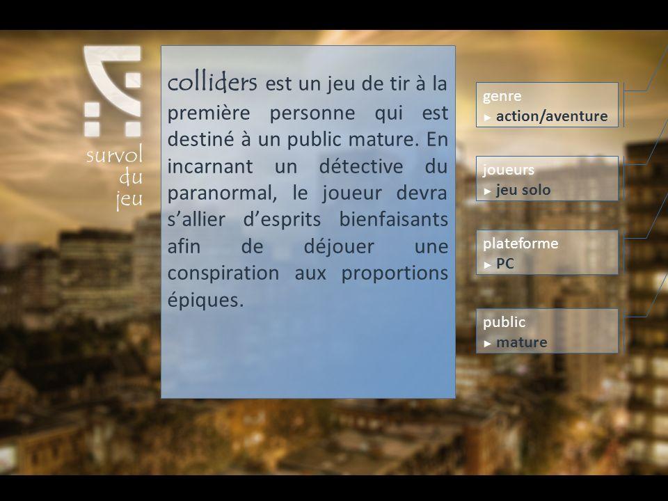 colliders est un jeu de tir à la première personne qui est destiné à un public mature. En incarnant un détective du paranormal, le joueur devra sallie