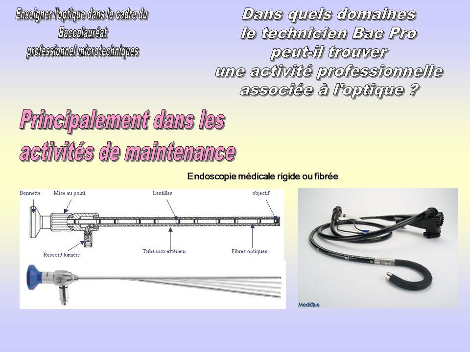 Endoscopie médicale rigide ou fibrée