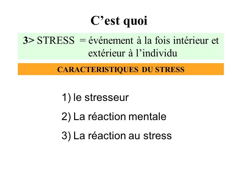 3)STADE DEPUISEMENT : Perte de capacité des sécrétions adaptatives (épuisement professionnel, dépression suivie dune récupération plus ou moins rapide