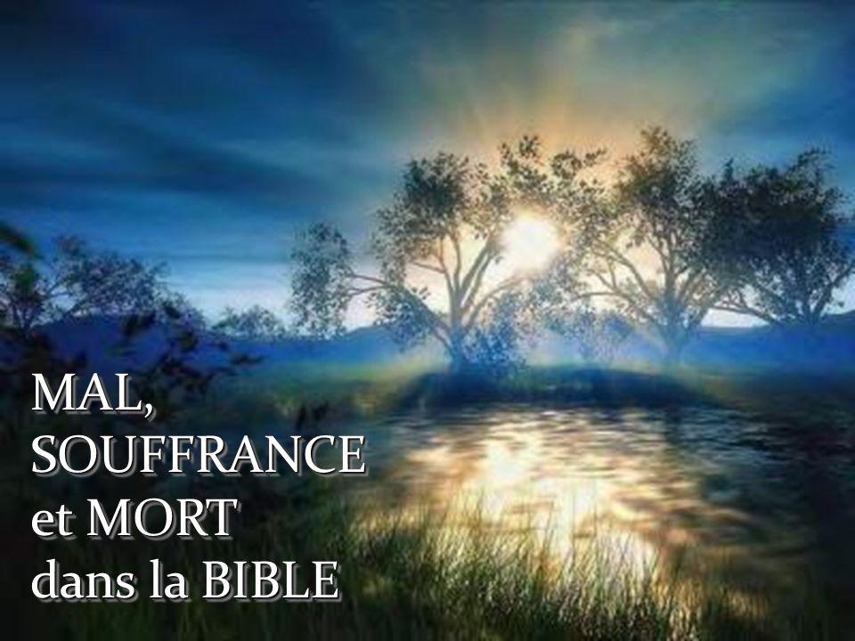 MAL, SOUFFRANCE et MORT dans la BIBLE