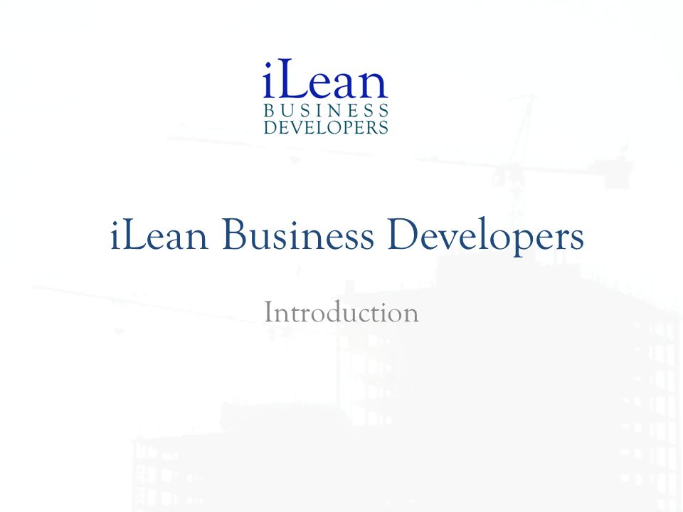 iLean Business Developers Introduction
