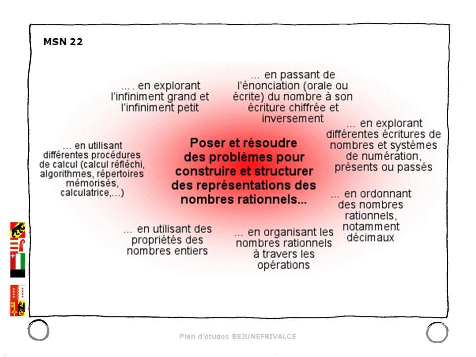 Plan détudes BEJUNEFRIVALGE MSN 22