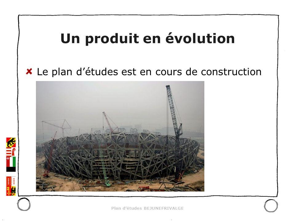 Plan détudes BEJUNEFRIVALGE Un produit en évolution Le plan détudes est en cours de construction