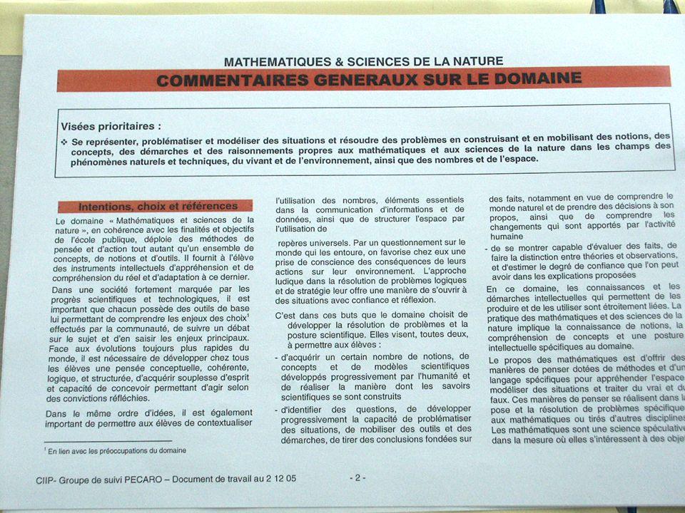 Plan détudes BEJUNEFRIVALGE MATHEMATIQUES & SCIENCES DE LA NATURE