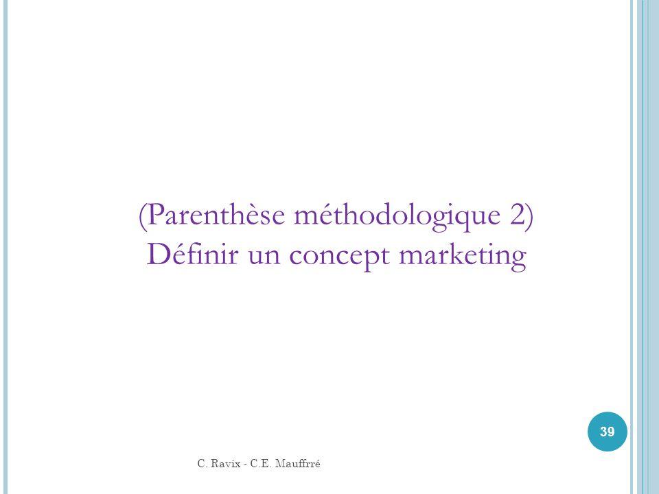 39 (Parenthèse méthodologique 2) Définir un concept marketing