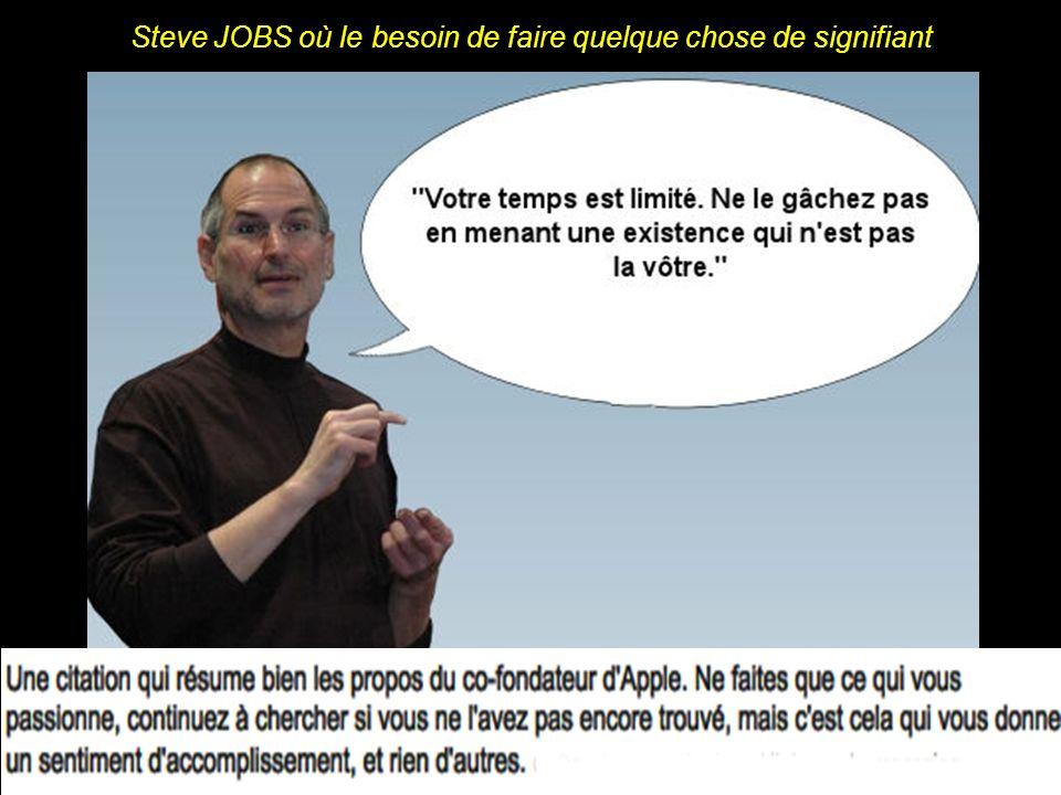Steve JOBS, face à la diffliculté inhérente au poste de DG