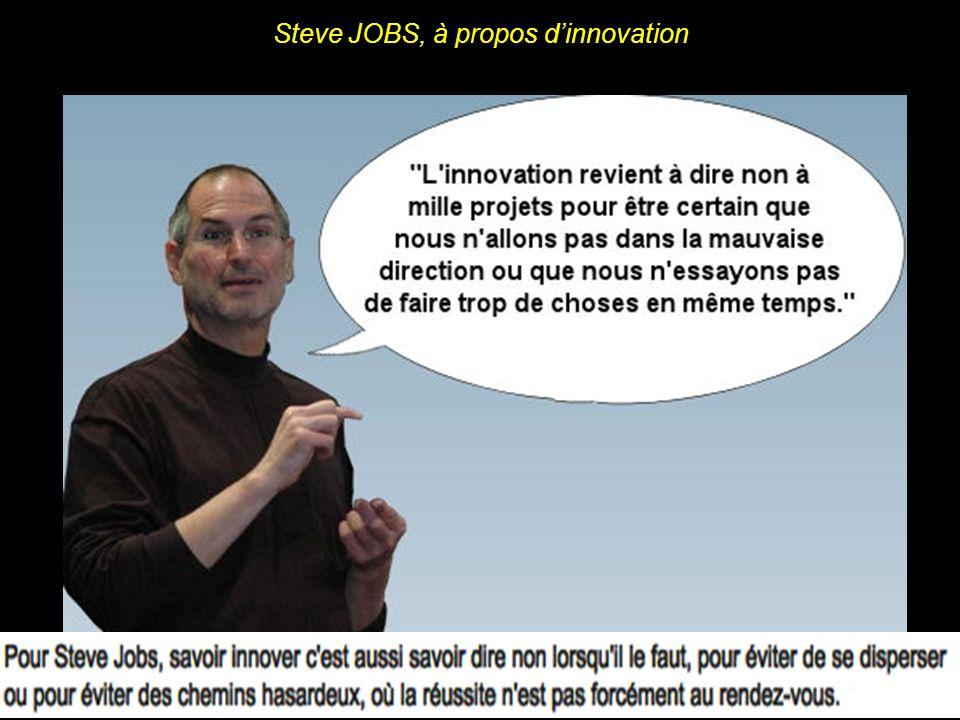 Steve JOBS, à propos dinnovation
