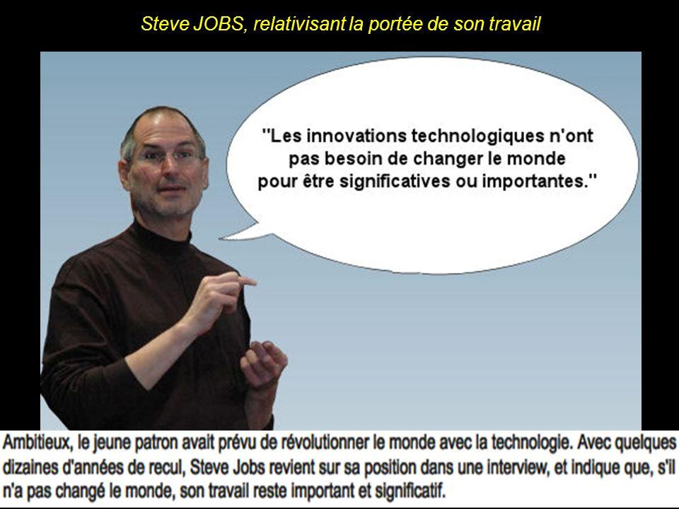 Steve JOBS sexprimant à propos des avancées technologiques
