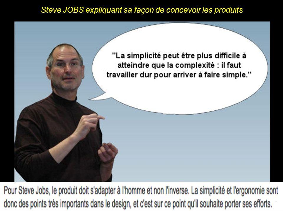 Steve JOBS, relativisant la portée de son travail